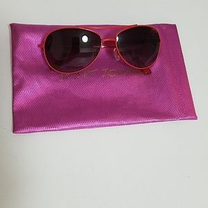 Betsey Johnson Cherry Aviator Sunglasses